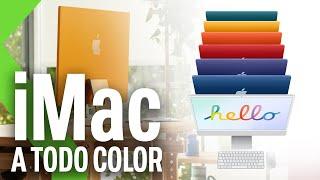 NUEVOS APPLE iMac 2021: ¡MÁS QUE BONITOS! Con chip M1 y el doble de rápidos