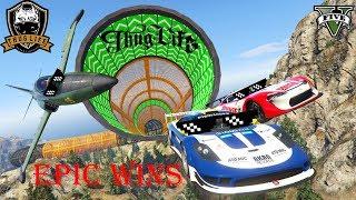 GTA 5 Epic Wins And stunts #19 | GTA Thug Life Moments Compilation