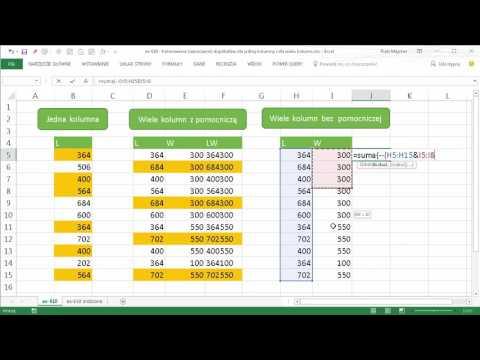 Excel 610 Kolorowanie Oznaczanie Duplikatów Dla Jednej Kolumny I