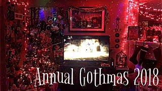 Annual GOTHMAS 2018 | Home Tour | Gothic Christmas Decorations