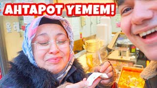Annem Kore'de İlginç SOKAK YEMEKLERİNİ Denedi! (Ahtapottan Kaçış!)