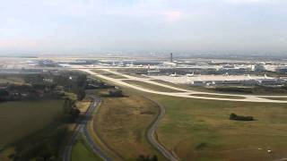 preview picture of video 'Landing with A319 (Air France) at Charles de Gaulle Airport (Roissy Airport), France'