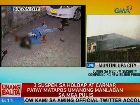 [GMA]  UB: 3 suspek sa holdap at carnap, patay matapos umanong manlaban sa mga pulis sa QC