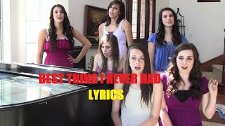 Cover by Cimorelli! - Best Thing I Never Had