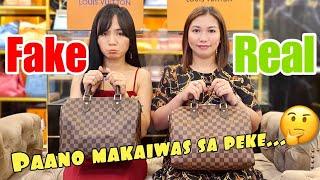 Real VS Fake Louis Vuitton Bandouliere Bag ( Na-SCAM Sya! ) | Bag Talks By Anna