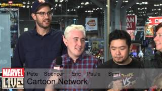 Various of Cartoon Network's Amazing Talent Visit Marvel LIVE! at NYCC 2014