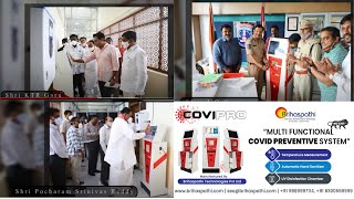 COVI-PRO the Best Temperature Detector Sensor| Automatic Hand Sanitizer wit