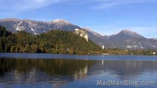 preview picture of video 'Lake Bled - Rowing to the Island Church - Bled, Slovenia'