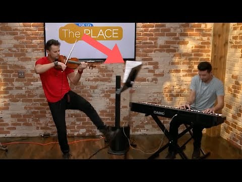 Violinist Kicks Over Music Stand On Live TV Playing Carol of the Bells