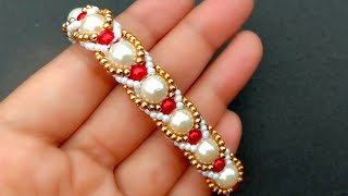 Bracelet Making How To//Beaded Bridal Bracelet// Useful & Easy