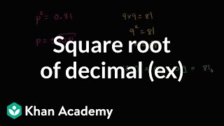 Finding Square Root Of Decimal