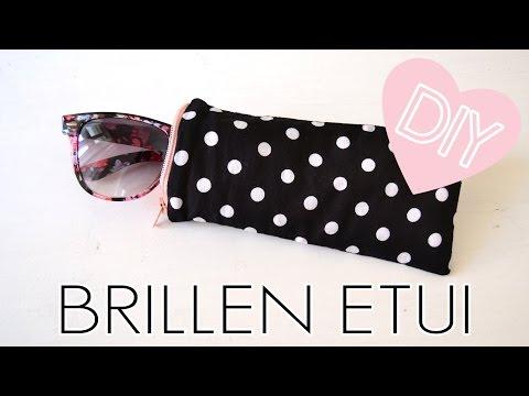 DIY Brillenetui selber machen / kleines Täschchen mit Reißverschluss nähen / Etui für Sonnenbrille