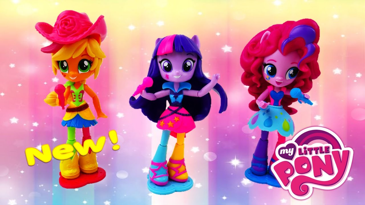 My Little Pony Equestria Girls Minis Neon Rocking Rainbow Rocks Applejack Twilight Pinkie Pie