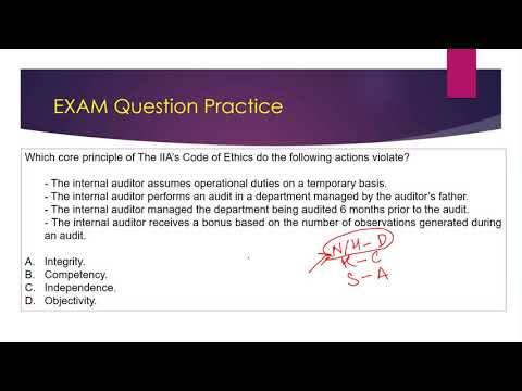Certified Internal Auditor (CIA) P1 2020- Exam Questions Practice ...