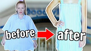 MAKING UGLY CLOTHES CUTE *thrift flip challenge*
