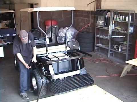 Golf Cart King EZGO TXT Rear Flip Back Seat Kit Installation Video | Golf Car Accessories