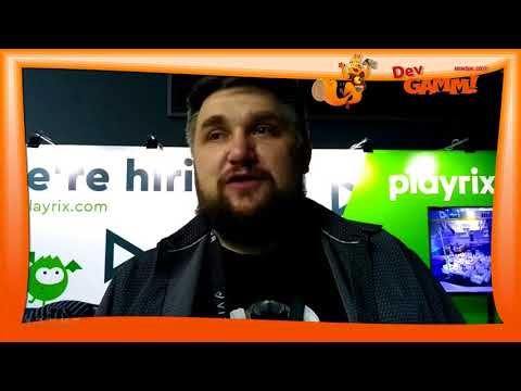 Алексей Трушков, компания Playrix - интервью на DevGAMM (Минск, 2017)
