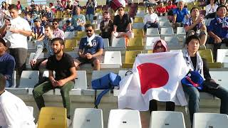 Supporters of Japan during the game against Turkmenistan at the AFC Asian Cup UAE 2019