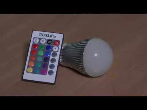 RGB LED-Lampe mit Fernbedienung (Pollin Artnr.: 520698 - 520702)