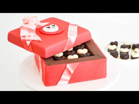 Caja de Bombones 💝 San Valentin - Torta/ pastel decorado || Tan Dulce