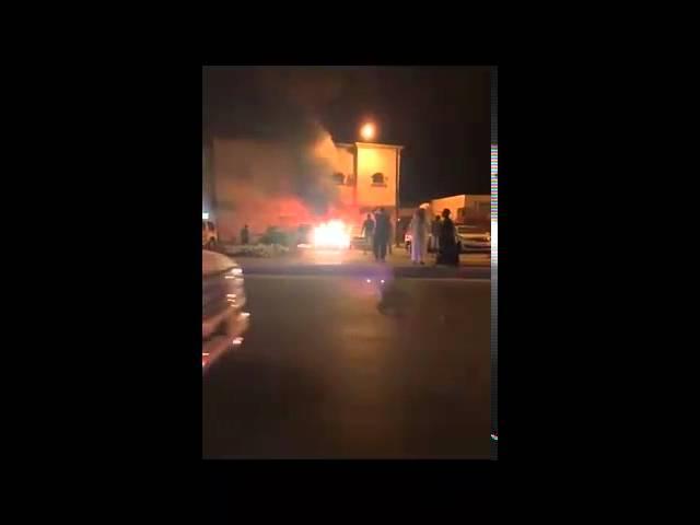 أول فيديو لتفجير دورية أمنية بجوار شرطة الدلم