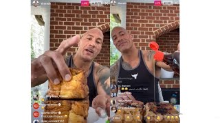 "Dwayne Johnson ""The Rock"" Eats A 4 Inch Thick French Toast *FULL LIVE* 😳 !"