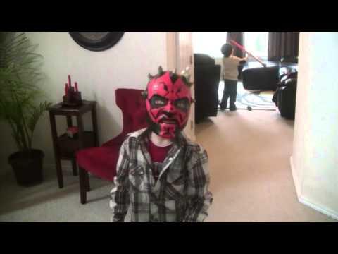 Darth Maul Mask and Lightsaber Toys!