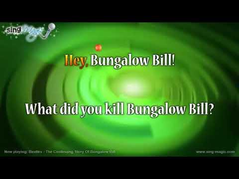 Beatles   The Continuing Story Of Bungalow Bill Karaoke Version Instrumental