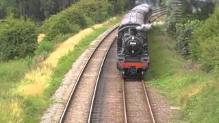 preview picture of video 'Great Central Railway Double Track Section - Steam Trains 24/08/13'