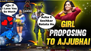 Cute Girl Proposing😍To Ajjubhai (Total Gaming) Ajjubhai Live Reaction & Reply - Garena Free Fire
