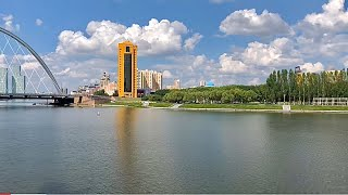 Набережная Астана / река Ишим / Нур-Султан, Казахстан