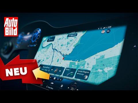 MBUX-Hyperscreen im Mercedes EQS (2021)   Mercedes zeigt die Zukunft mit neuem Infotainment   Info