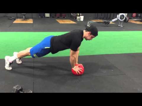Medicine Ball Plyo Push-ups - 915 Sports Tutorial