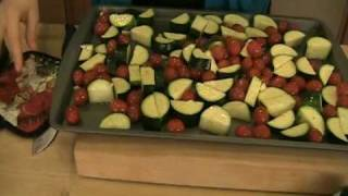 """Roasted Zuchini Recipe / How-to Video - Laura Vitale """"Laura In The Kitchen"""" Episode 28"""