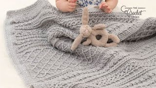 Crochet Cable Your Love Baby Blanket Pattern
