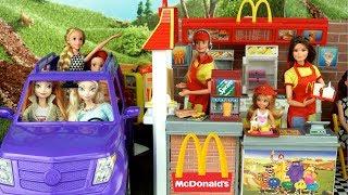 Barbie Sisters Work in Mc Donald