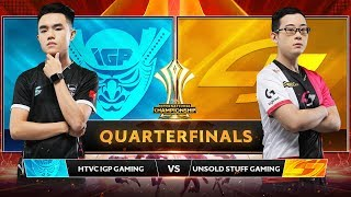 HTVC IGP GAMING vs UNSOLD STUFF GAMING - Tứ Kết AIC 2019 - Garena Liên Quân Mobile