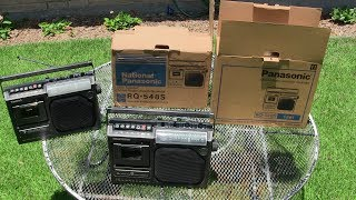 Panasonic RQ-548S Versus National RQ-548S Cardboard Box Condition Of Outside In Sun