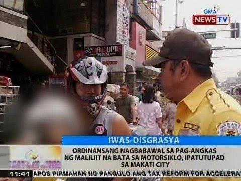 BT: Ordinansang nagbabawal sa pag-angkas ng maliliit na bata sa motorsiklo, ipatutupad sa Makati