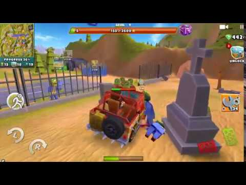 Zombie Safari game kill zombies on a cool car