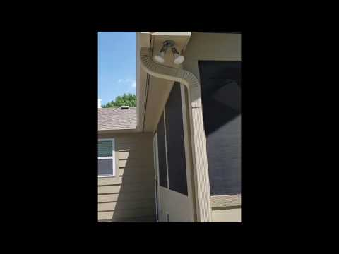 Windows, Gutters and Downspout Installation at Kansas City, MO Home