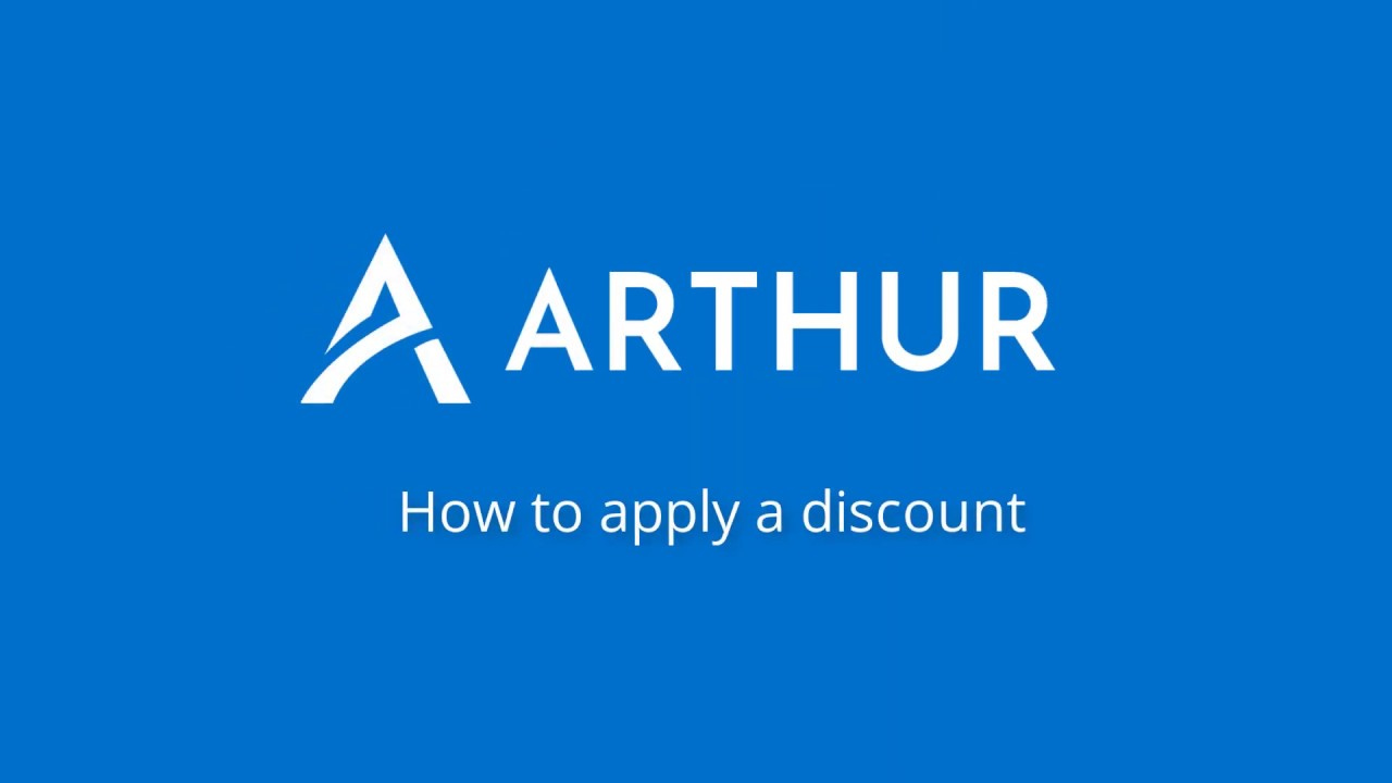 Watch How to add a discount