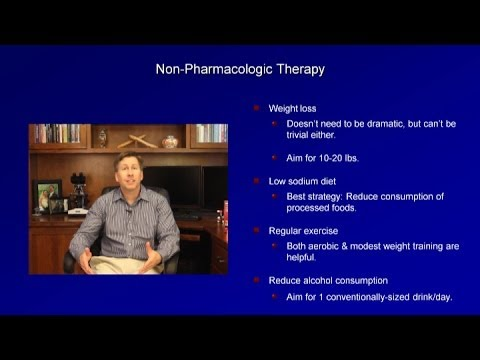 Linderung der Symptome einer hypertensiven Krise