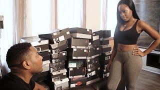 Guy has to choose between  Air Jordan's or his girlfriend