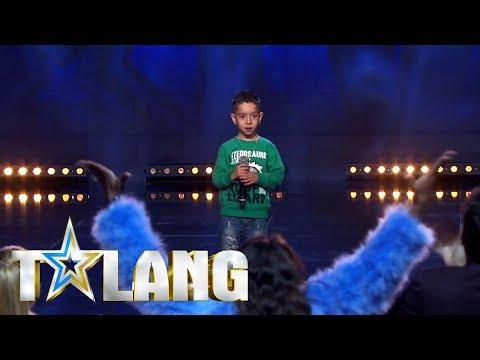 Femårige Osman rappar i Talang 2018