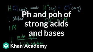 pH, pOH of Strong Acids and Bases