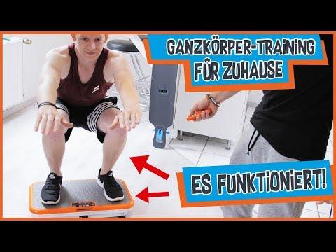 Vibrationsplatten Training für Muskelaufbau & schnelles abnehmen 💪
