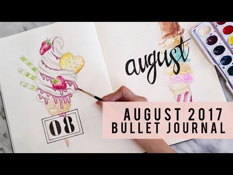 PLAN WITH ME   AUGUST 2017 BULLET JOURNAL   ANN LE