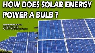 1- How Does Solar Energy Power a bulb | Animated Tutorial of Solar System