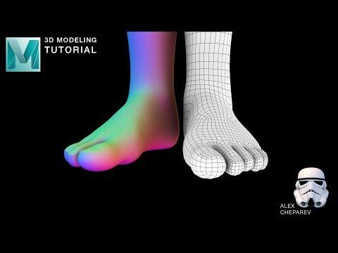 Easy Foot Modeling Tutorial in Maya